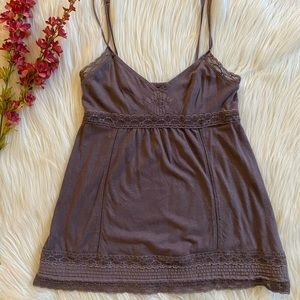 AMERICAN EAGLE Lace Detailed Spaghetti Strap Top